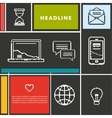Set icons for business internet and communication vector image vector image