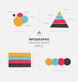 set of flat design infographic charts and graphs 3 vector image vector image