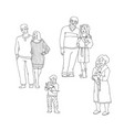 set of happy family members in vector image vector image