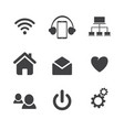 Set of social network icons with cloud computing vector image