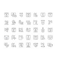 set simple icons 3d printing