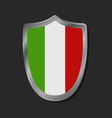 Shield with flag of Italy vector image vector image