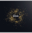 shiny golden particles gold foil glitters frame vector image