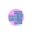 shopping garments buy online shop glyph icon vector image