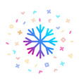 snowflake surrounded festive decor icon vector image vector image