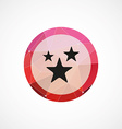 stars circle pink triangle background icon vector image vector image