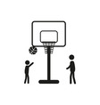 Summer sports icon - basketball vector image vector image