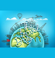 the travel day travel destination concept vector image vector image