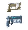 weapon space gun blaster laser gun with vector image vector image