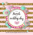 wedding flower gold mint vector image