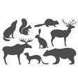 Wild Animals Silhouette vector image