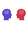 with two human heads messy complicated line vector image vector image