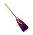 wooden boat oar sport object element vector image