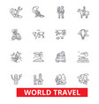 world travel winter tourism skiing diving vector image vector image