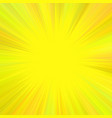 yellow abstract psychedelic star burst background vector image vector image