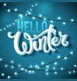 hello winter poster vector image