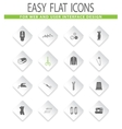 Tailor icons set vector image
