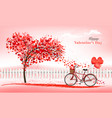 a pink holiday valentines day background vector image vector image
