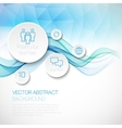 A wave of smoke infographics background vector image