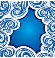 abstract swirl blue brush stroke background