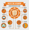 architecture infographic concept flat style vector image vector image