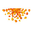 autumn falling leaves isolated on white background vector image vector image