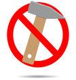 Ban hammer icon flat vector image vector image