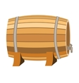 Barrel of wine icon in cartoon style isolated on