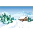 Beautiful Winter Landscape With House vector image