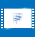 blank storage shelf icon vector image vector image