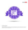 bookcase furniture icon - purple ribbon banner vector image