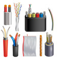 cable cabled wire connection technology vector image