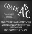 chalk abc latin and cyrillic ir retro style vector image vector image