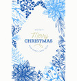 christmas hand drawn design template vintage style vector image