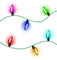 Christmas light set vector image vector image
