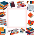 close and open books in different positions in vector image vector image