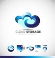 cloud computing logo icon design vector image vector image