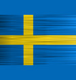 concept swedish flag blue yellow cross vector image vector image