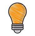 drawing bulb idea light creative vector image vector image