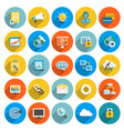 flat icon business vector image