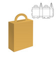 folding pack 30 vector image vector image