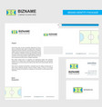 football ground business letterhead envelope and vector image vector image