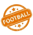 Football grunge icon vector image vector image