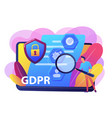 general data protection regulation concept vector image