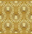 gold textured 3d seamless pattern golden vector image vector image