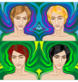 handsome young men vector image