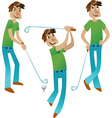 Happy golfer set vector | Price: 1 Credit (USD $1)