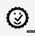 high quality symbol smile black and white icon vector image vector image