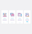 higher education study ux ui onboarding mobile vector image vector image