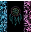 Indian Dream catcher black background and vector image vector image